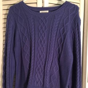 Monteau Purple with Floral sweater, Size XL
